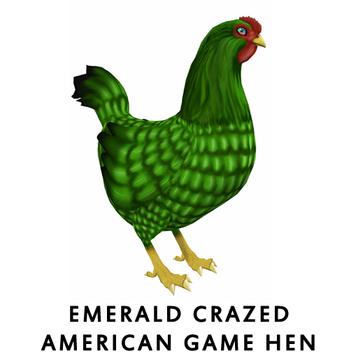 Emerald_Crazed_American_Game_Hen
