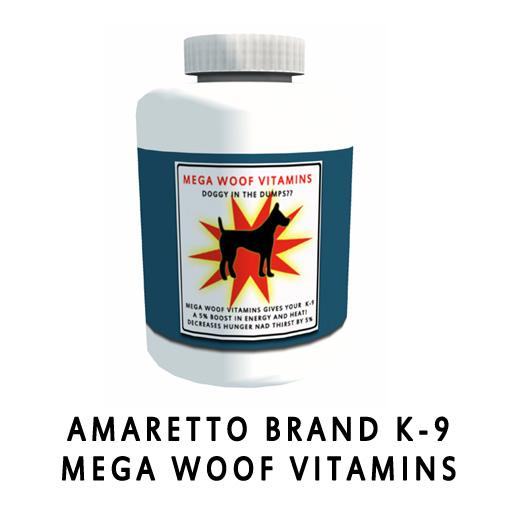 Amaretto Brand K-9 Mega Woof Vitamins