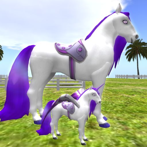 crystal glasswing Amethyst Dazzle Saddle Mom & Son