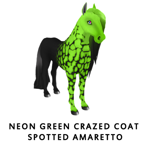 NeonGreenCrazed_Coat_Spotted_Amaretto