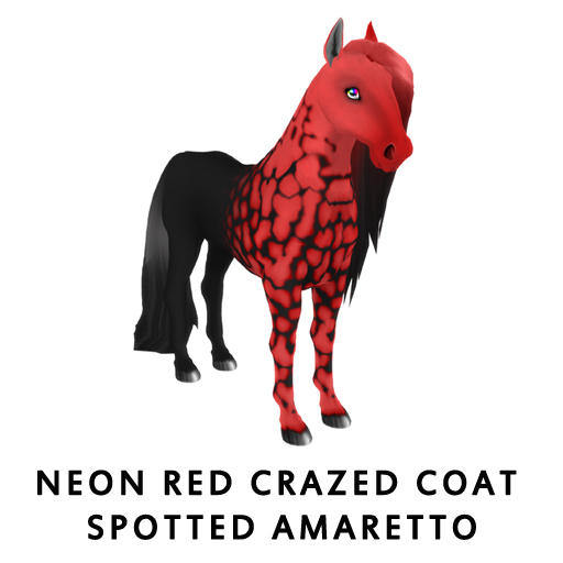 Neon_Red_Crazed_Coat_Spotted_Amaretto