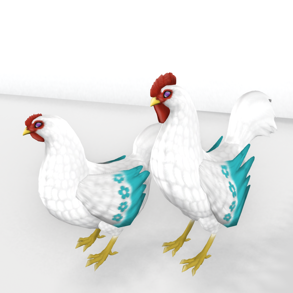 Teal Mother's Day CE Hidden Wing Tip Trait Hen Example_001