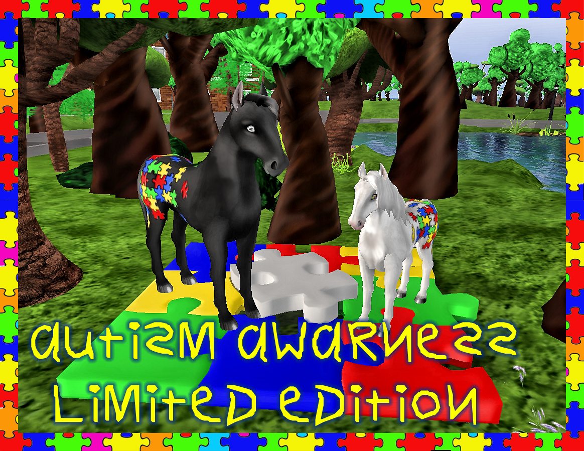 LE Autism Awareness Horse