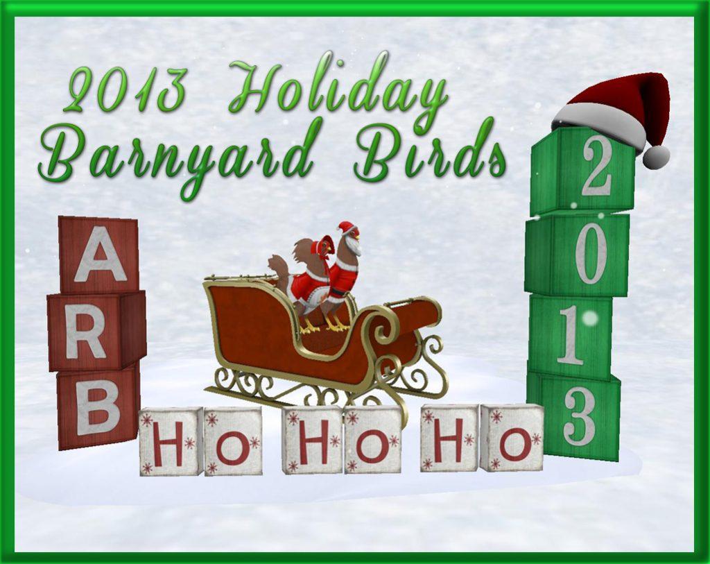 2013 Holiday Barnyard Birds