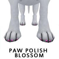 paw polish blossom,