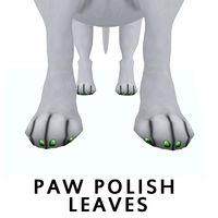 paw polish leaves