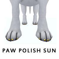 paw polish sun