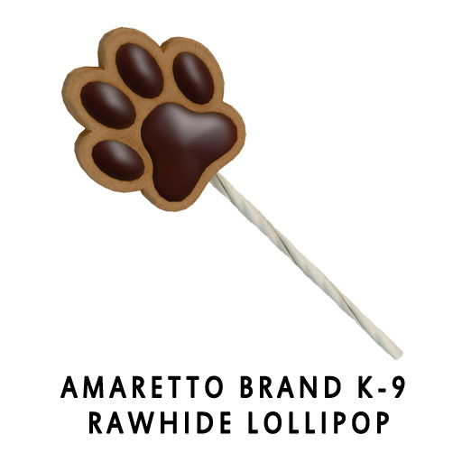 Amaretto Brand K-9 Rawhide Lollipop