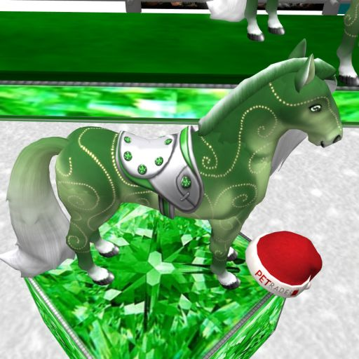 Crystal's Emerald Dazzle Saddle Girl ~ 3X Emerald - dos Wing