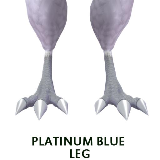 Platinum Blue leg