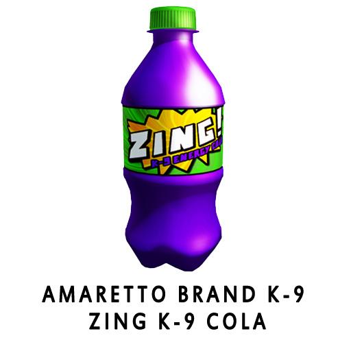 Amaretto_Brand_K-9_Zing_K-9_Cola