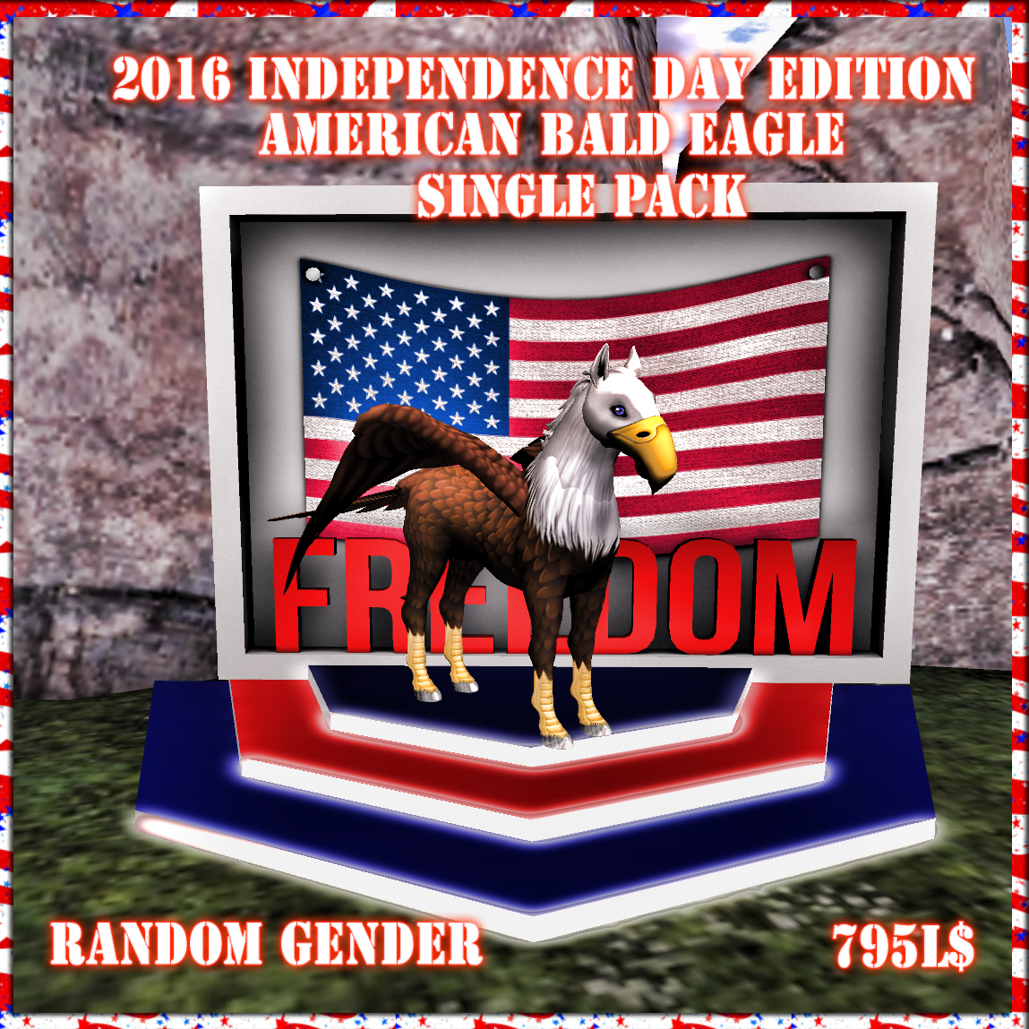 2016 Independence Day Edition American Bald EagleHorses