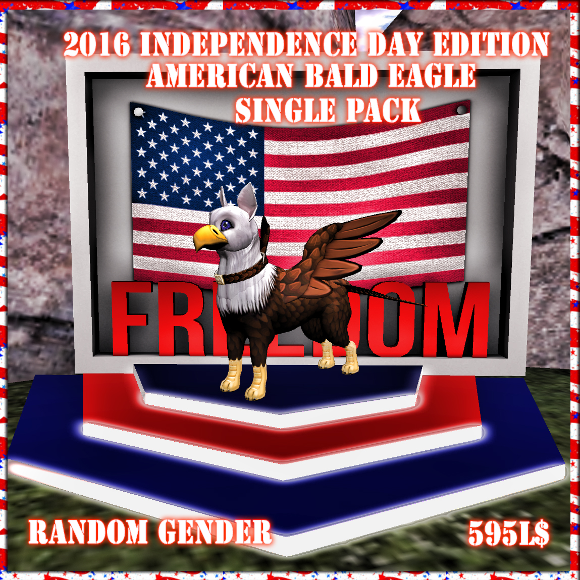 2016 Independence Day Edition American Bald EagleK9