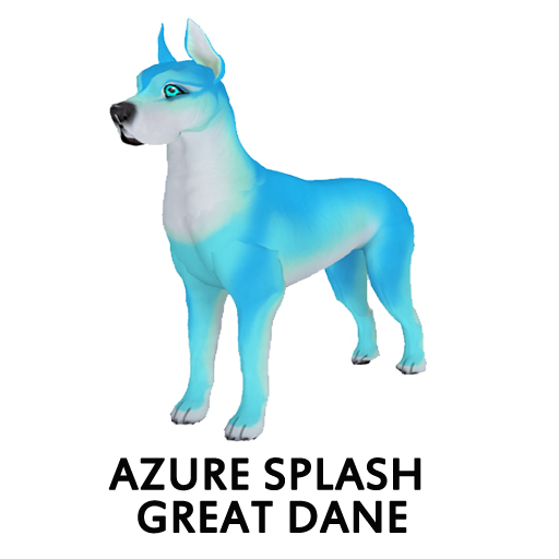 Azure Splash Great Dane